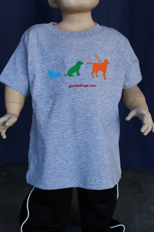 Toddler tee - full color 3 dog design