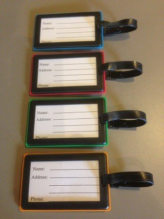Braille Luggage Tags