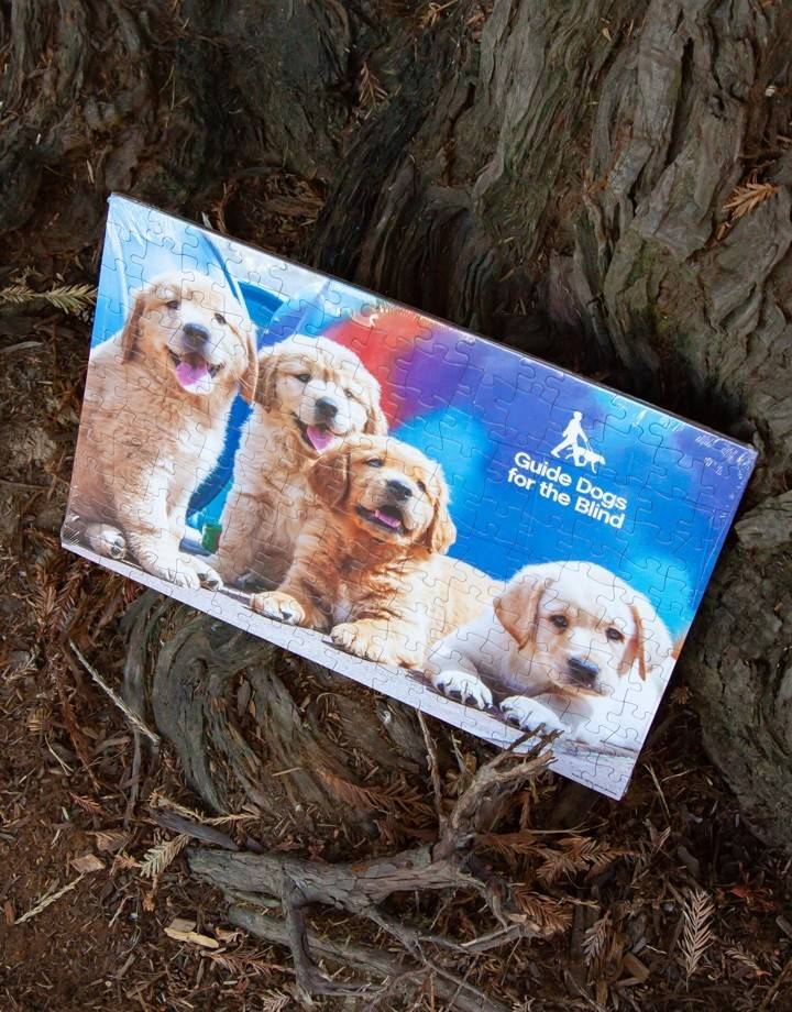 Puzzle - 150 pieces - 3 goldens & 1 yl lab