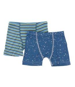 Kickee Pants Boxer Briefs Set, Anniversary Stripe and Twilight Starry Sky
