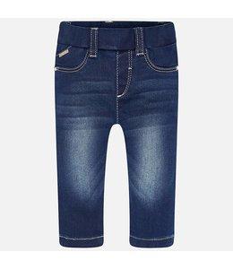 Mayoral Basic Denim Leggings, Dark Blue