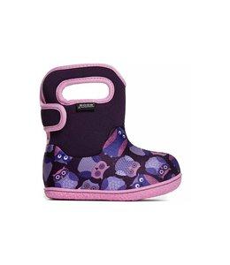 Bogs Infant/Toddler Waterproof Boots, Owls - Purple