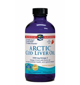 Nordic Naturals Arctic Cod Liver Oil 1050 mg Strawberry 8 oz