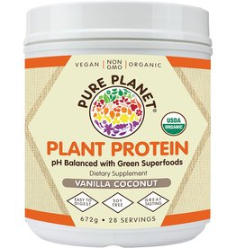 Pure Planet Vanilla Coconut Plant Protein 28 Servings