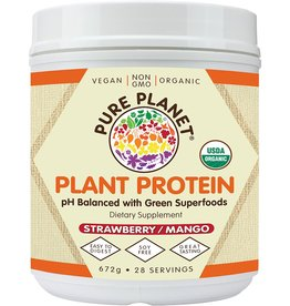 Pure Planet Strawberry Mango Plant Protein 28 Servings