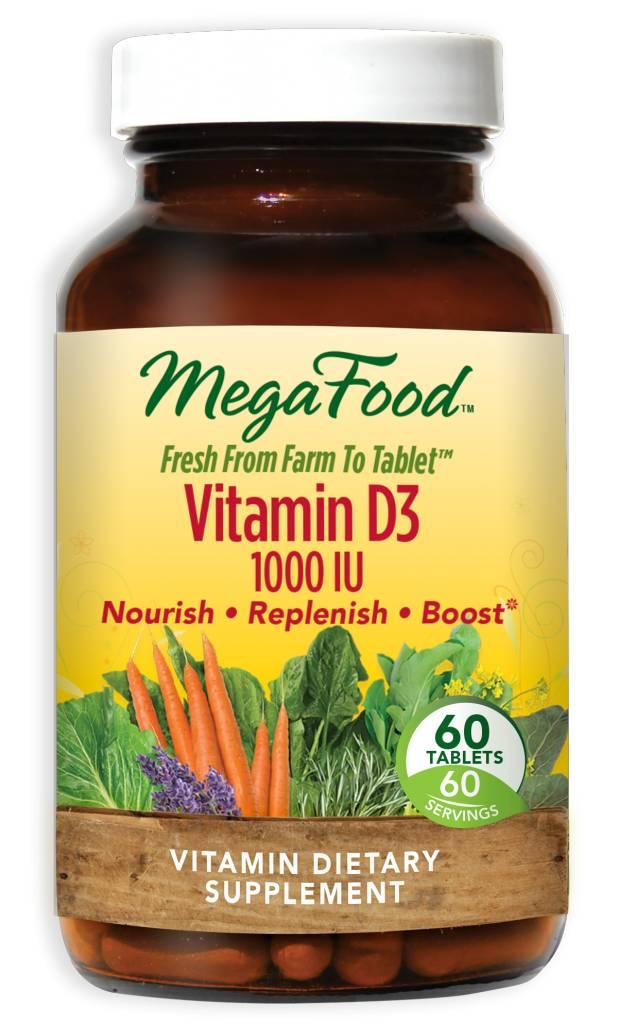 MegaFood Vitamin D3 1000 IU 60 ct