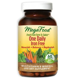 MegaFood One Daily Iron Free 60 ct