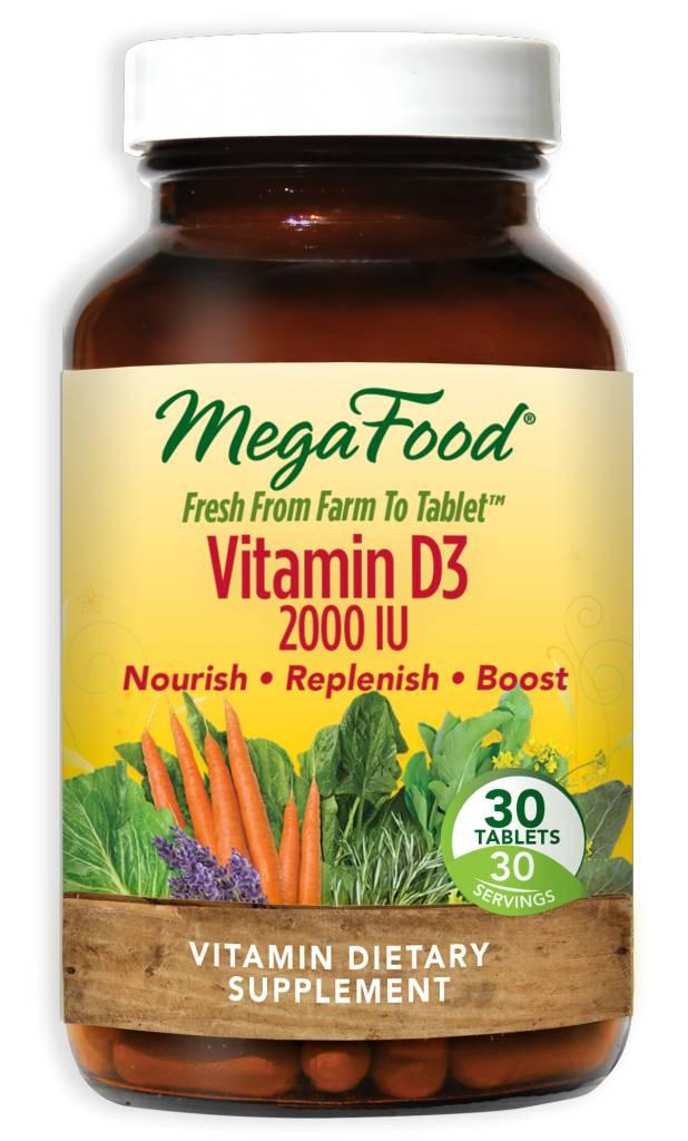 MegaFood Vitamin D3 2000 IU 30 ct