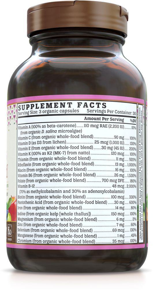 Nutrigold Women's 18+ Organic Multivitamin 90ct