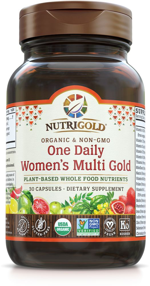 Nutrigold Women's 1 Daily Organic Multivitamin 30ct