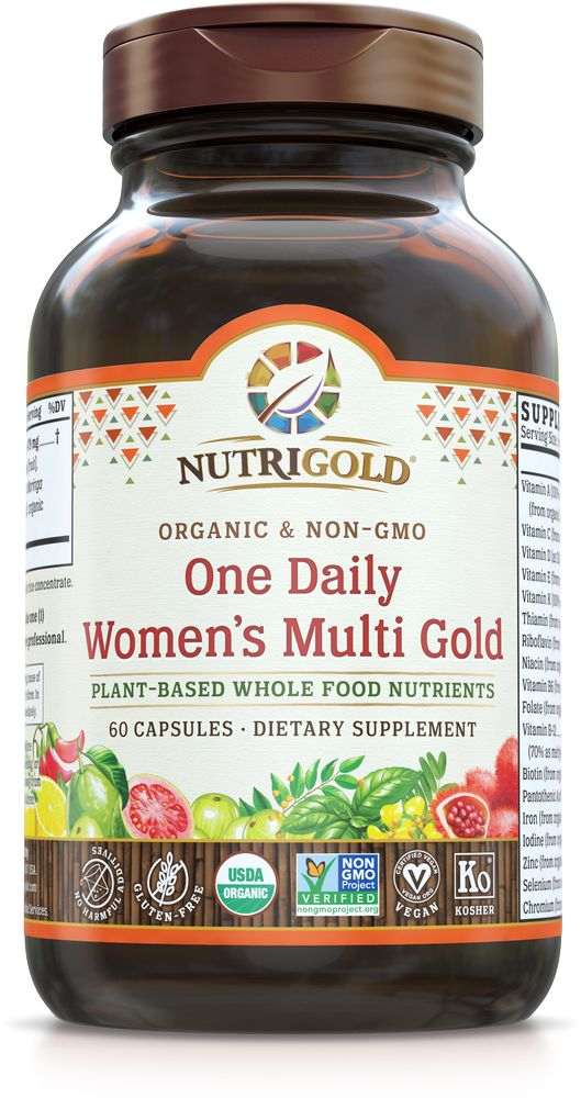 Nutrigold Women's 1 Daily Organic Multivitamin 60ct