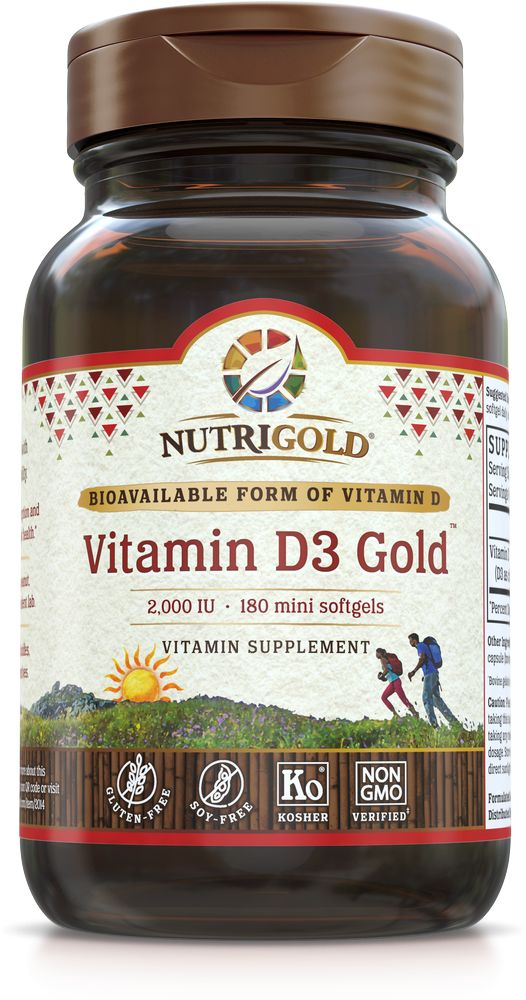 Nutrigold Vitamin D3 2,000 IU 180ct