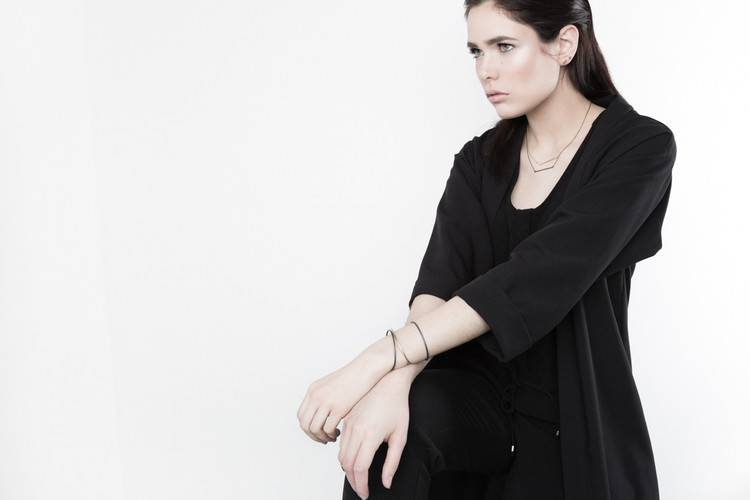 Pilar Agueci Collier de Ligne Oxydé