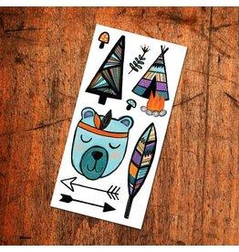Pico tatoo Tatouages Temporaires - Ourson Sympathique