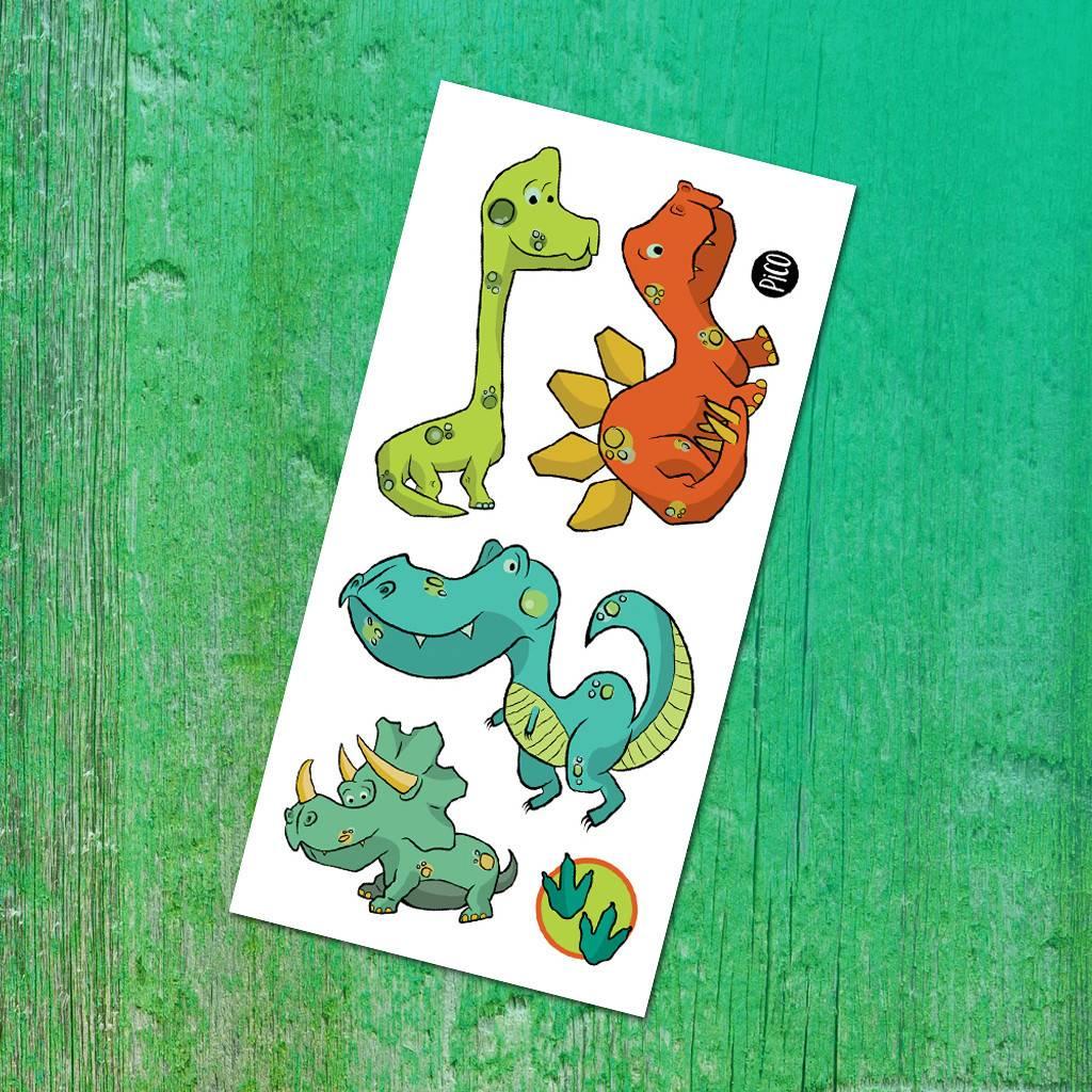 Pico tatoo Tatouages Temporaires - Les Dinosaures