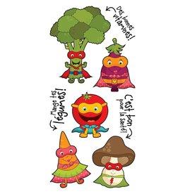 Pico tatoo Tatouages Temporaires - Les Super Légumes