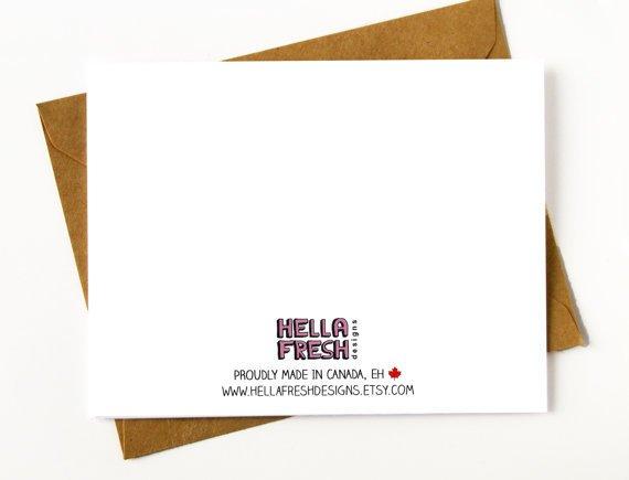 Hellafresh designs Whore Bridesman Greeting Card