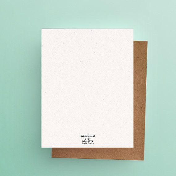 Darveelicious Sans Mots Greeting Card