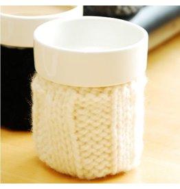 PMO design Cup with Knit 6oz rib Cozy