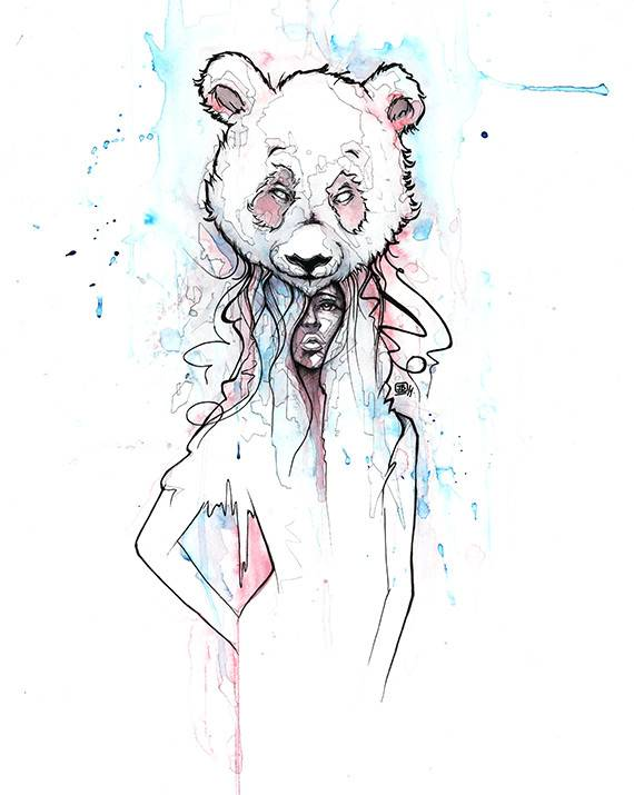 Jimmy Baptiste Panda Girl Print
