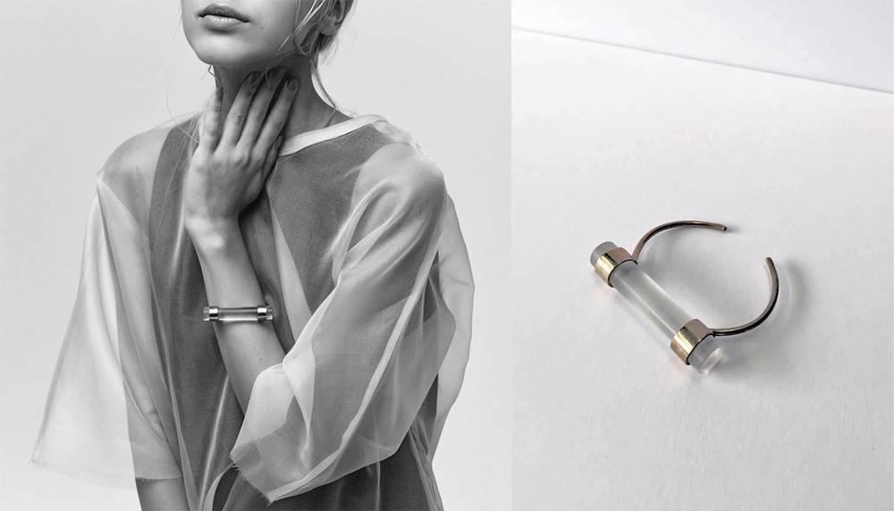 LLY Atelier LLY Atelier Cloud Bracelet - Bronze and  Acrylic