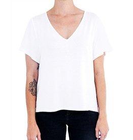 Ménage à Deux T-shirt col V - Blanc