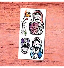 Pico tatoo Tatouages Temporaires - Poupées Russes