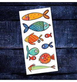 Pico tatoo Tatouage Temporaire - Les poissons