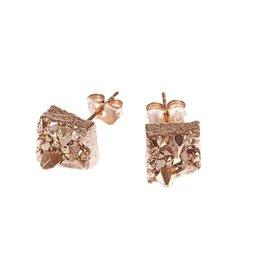 Noemiah Gold-plated Geo Earrings