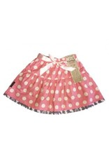 Alice & Simone Jupe reversible ours et pois rose