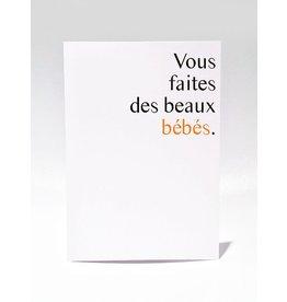 Masimto Des Beaux Bébés Greeting Card