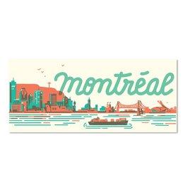 Paperole Montreal Skyline Postcard