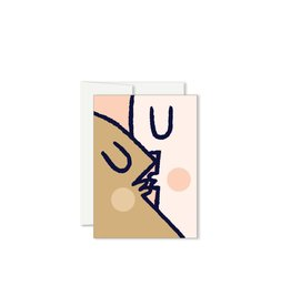 Greeting cards boutique evelyne paperole mini kiss greeting card m4hsunfo