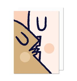 Paperole Greeting Card: Kiss