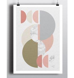 Toffie Multi Half Circles 12x18