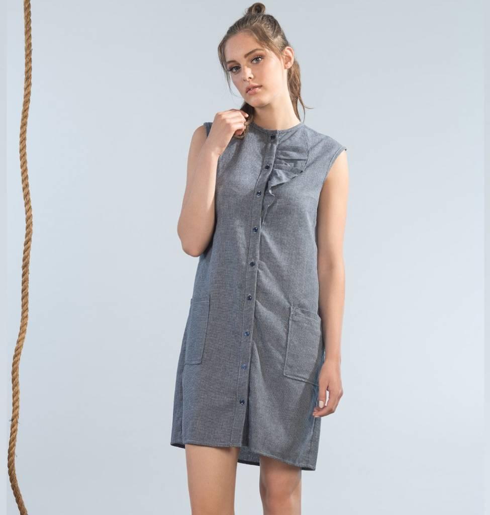 Jennifer Glasgow Castaway Dress - Denim Cham