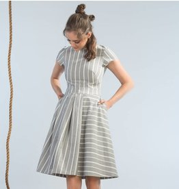 Jennifer Glasgow Wharf Dress - Paper Stripe
