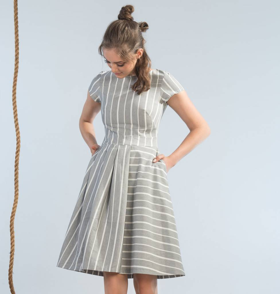 Jennifer Glasgow Wharf Dress - Paper Stripe