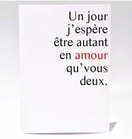 Masimto Greeting Card Autant en Amour Qu'vous
