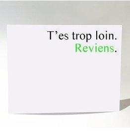 Masimto Carte Postale Trop Loin Reviens