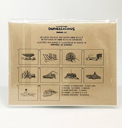 Darveelicious Lot 10 Cartes Postales Expo 67