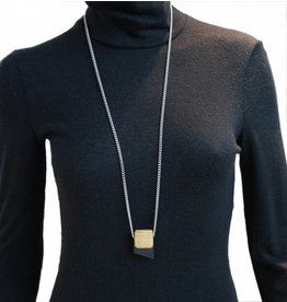 Louve Montreal Small Leather Necklace - Black