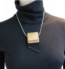 Louve Montreal Asymmetric Tie Necklace