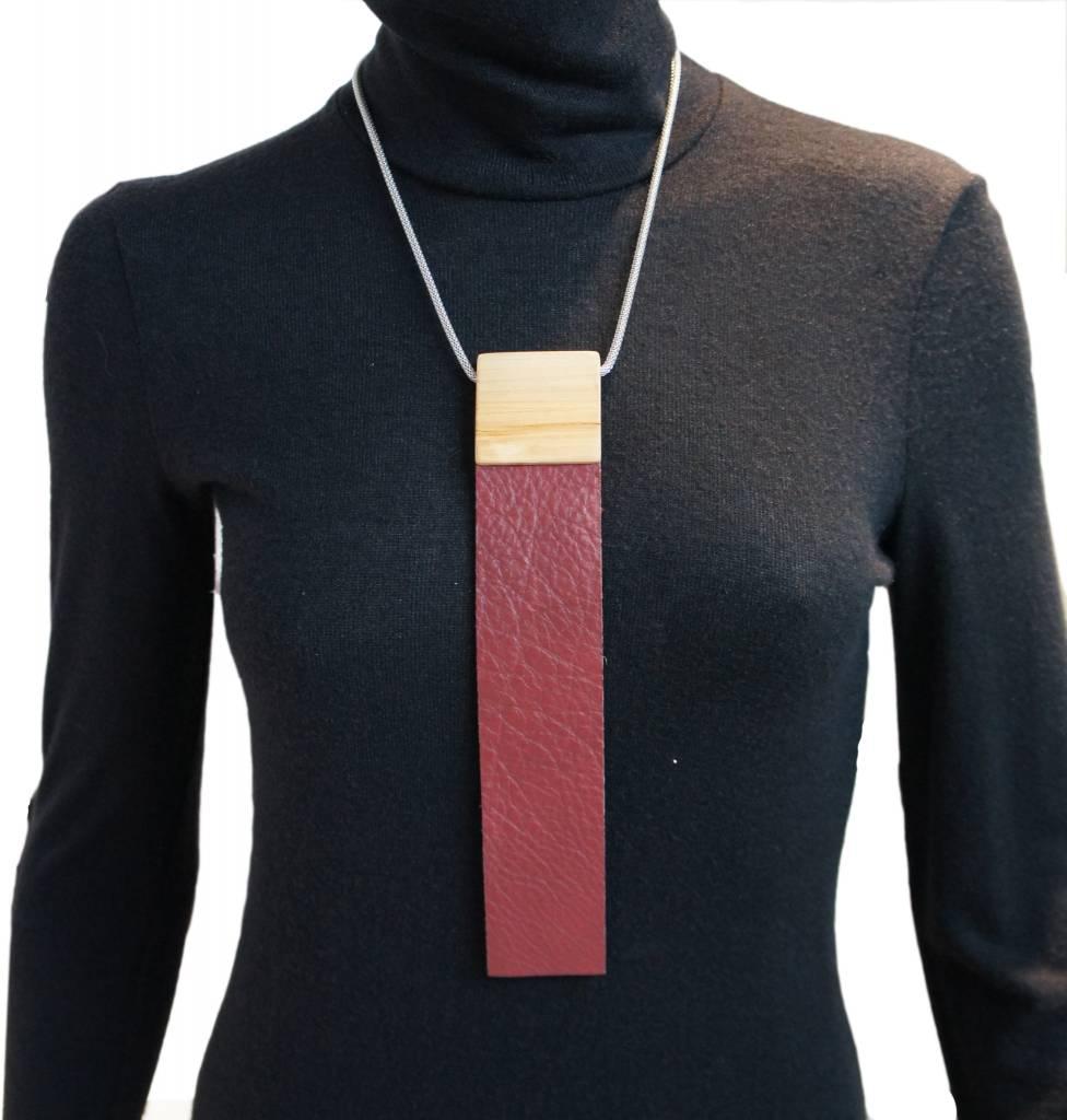 Louve Montreal Burgundy Tie Necklace
