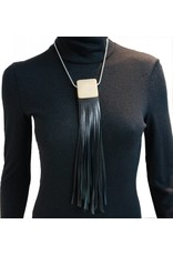 Louve Montreal Louve Montreal Leather Fringe Necklace