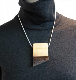 Louve Montreal Fur Triangle Necklace