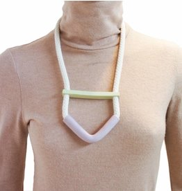 YYY Bent half Moon Necklace on Rope