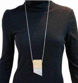 Louve Montreal Long Silver Asymmetrical Necklace