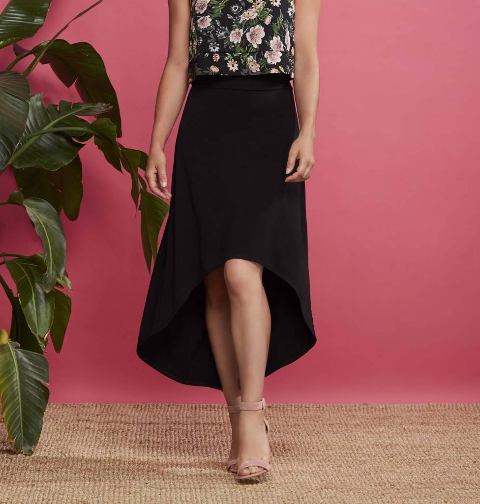Cherry Bobin Martini Skirt - Black
