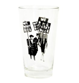 TOMA We want beer - Pint Glass